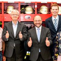 Prof. Dr. Werner Widuckel gemeinsam mit Martin Schulz im Bundestagswahlkampf