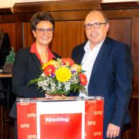 Blumen vom SPD OV Vorsitzenden Dieter Betz