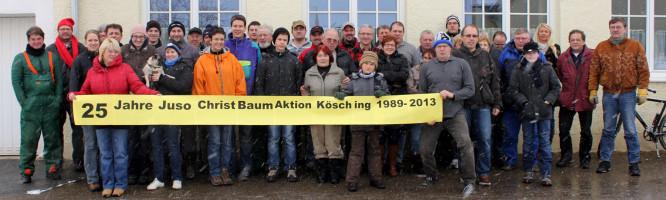 Jusos Christbaumsammelaktion 2013 Jubiläum 25 Jahre