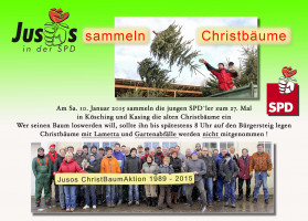 Christbaumsammeln, im Januar 2015
