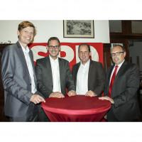Sven John, Andreas Lotte, Peter Bachschuster, Dieter Betz, von links nach rechts, 2015