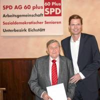 Sven bedankt sich bei Rudi Ullinger