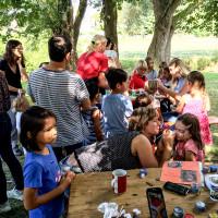 Großer Andrang beim Kinderschminken. 08-2016
